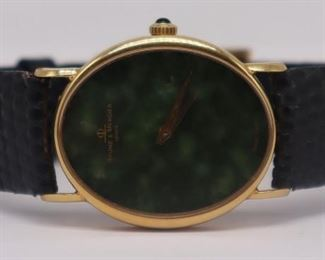 JEWELRY Baume Mercier kt Gold and Jade Watch