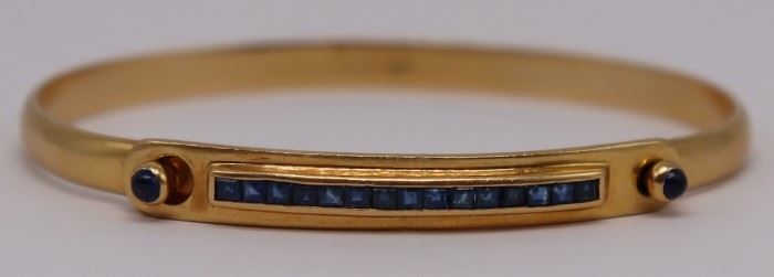 JEWELRY Cartier kt Gold and Sapphire Bracelet