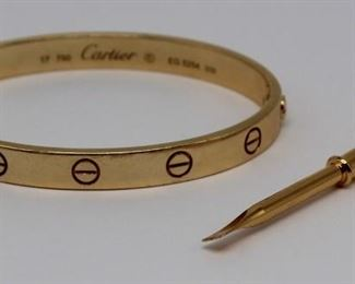JEWELRY Cartier kt Gold Love Bracelet