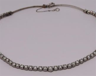 JEWELRY ct Riviere Style Diamond Necklace