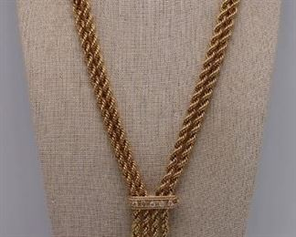 JEWELRY Heavy kt Gold MultiChain Necklace