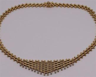 JEWELRY Italian kt Gold and Diamond Necklace