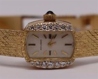 JEWELRY Ladies Vintage kt Gold Movado Watch
