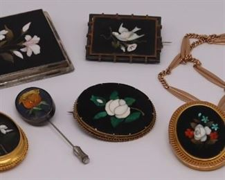 JEWELRY Pietra Dura Jewelry Grouping