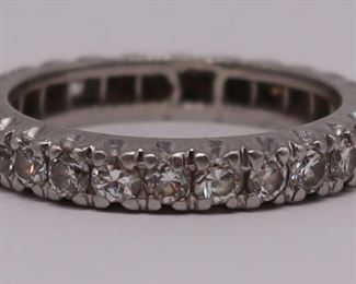 JEWELRY Platinum and Diamond Eternity Band