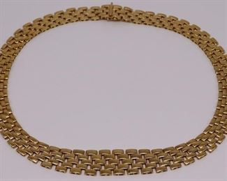 JEWELRY Signed Italian kt Gold Panthere Link