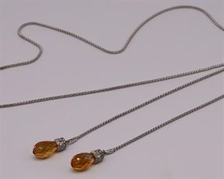 JEWELRY UnoAErre kt Gold Diamond and Citrine