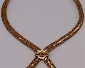 JEWELRY Vintage Argentinian kt Gold Necklace