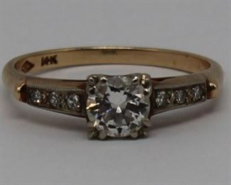 JEWELRY Vintage kt Gold Diamond Engagement Ring