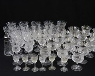 Large Group of Edinburgh Stemware Thistle
