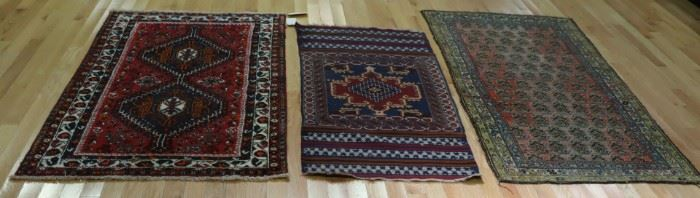 Lot Of Antique And Finely Hand Woven Area Rugs