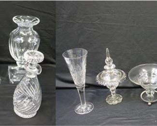Lot Of Assorted Cut Glass Items To Include