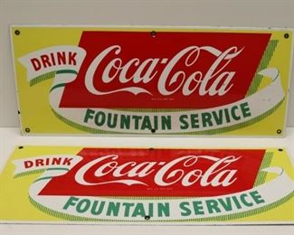 Lot Of Vintage Coca Cola Enamel Signs
