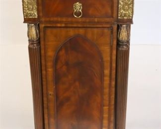 Maitland Smith Cabinet With Brass Gallery