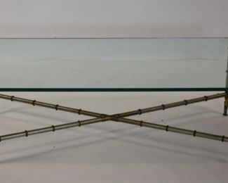 MIDCENTURY Brass And Steel Coffee Table