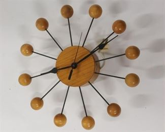MIDCENTURY George Nelson Ball Clock By
