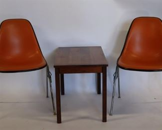 MIDCENTURY Knoll Eames Chairs Together With A