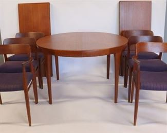 MIDCENTURY Niels Moller Dining Table And Chairs