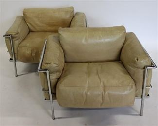 MIDCENTURY Pair Of Corbusier Chairs