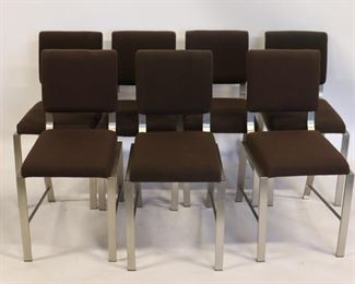MIDCENTURY Set Of Heavy Polished Steel Chairs