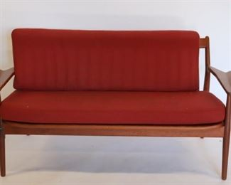 MIDCENTURY Settee With Original Cushions