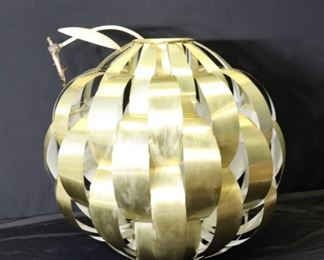 MIDCENTURYLarge Gilt Alluminium Sphere Form