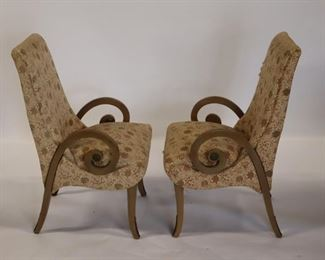 Pair Of Neoclassical Style Upholstered Chairs
