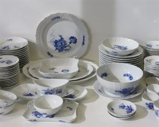 Royal Copenhagen Lot Of Blue Flower Porcelain