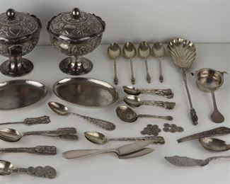 SILVER Assorted Asian Silver Hollow Ware
