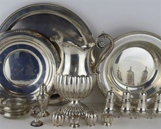 SILVER Assorted Silver Hollow Ware Grouping