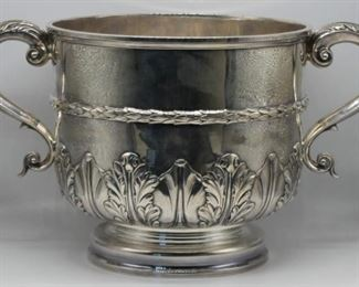 SILVER Large English Silver Centerpiece Bowl