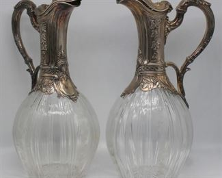 SILVER Pair of Vaguer French Silver Mounted