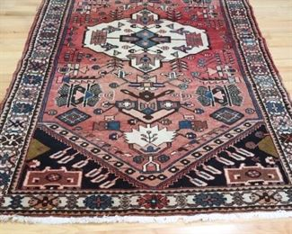 Vintage And Finely Hand Kazak Style Woven Carpet