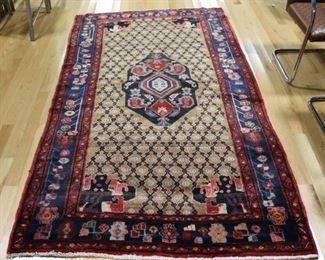 Vintage And Finely Hand Woven Area Carpet