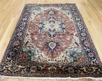 Vintage And Finely Hand Woven Heriz Style Carpet