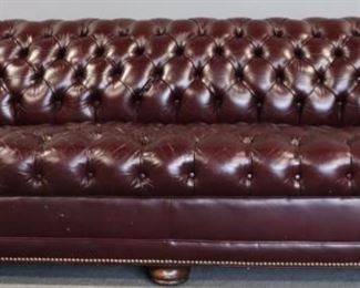 Vintage And Quality Leather Chesterfield
