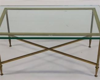 Vintage Brass And Steel Coffee Table