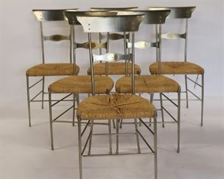Vintage Firenze Polished Steel Chairs