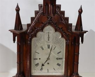 VULLIAMY William IV Gothic Revival Mantel Clock