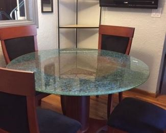 Cracked Glass Table with chairs