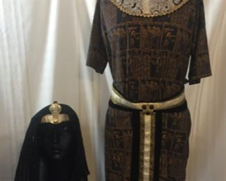 Mens Pharaoh costume with head piece