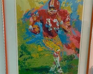 Leroy Nieman - signed and numbered Larry Brown of Redskins serigraph