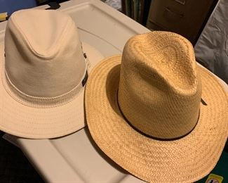 Several men's and women's hats.