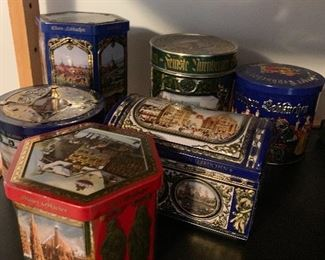 Biscuit tins from Germany