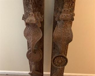 Burmese carved sculptures
