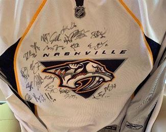 Vintage signed Predators jersey