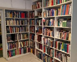 A large library -books in other parts of the house, as well!