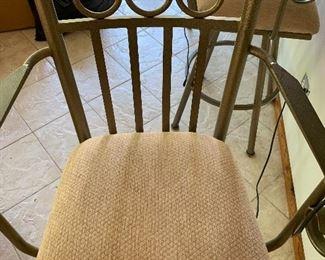 Brushed nickel bar stool