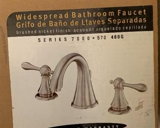 5 new in box faucet sets