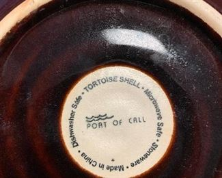 """""""Port of Call"""" brown glazed ironstone dishes"""